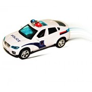 Dazzling Toys Fun Police Car Toy with Flashing Lights and Sirens - Battery Powered.