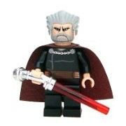 Lego Star Wars Count Dooku Minifigure with Lightsaber