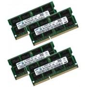 Samsung - Kit dual channel 32 GB, 4 x 8 GB 204 pin DDR3 1600 SO-DIMM (1600Mhz, PC3-12800S, CL11), Apple ID 0 x 80 CE