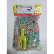 Mini Bands Making Kit 600 Piece Light Pastel Mix Color Silicone Rubber Band With Mini Maker,S Clips,How To Easy Make Guide Leaflet With Photos,Mini Beads Kit.