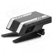 Folding USB Powered Cooler Fan for Laptop - Black + Silver White