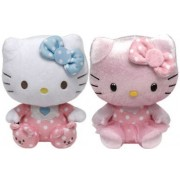 Ty Beanie Babies Hello Kitty - Rosa bebé con Rattle and Pink Shimmer Set de 2 Peluches - Pink Baby with Rattle and Pink Shimmer Set of 2 Plush Toys