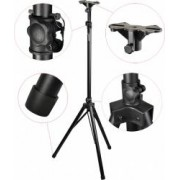 Steinbach Mittelgewicht Aluminium Lautsprecher-Stativ mit einklappbaren Füßen schwarz Speaker Stativ Ständer Lautsprecherständer Lautsprecherstativ