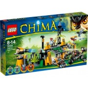 LEGO Chima 70134 - Lavertus' Outland Base V29, Include 4 Minifigure