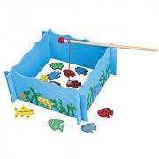 Fishing Game Playset - a fishing pool 4 magnetic fishing rods and 20 pieces of fish