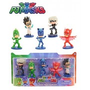 Just Play PJ Masks - COLLECTIBLE FIGURE SET 5-Pack - This Deluxe Pack of PJ Masks 3 inch Figures Features Catboy, Owlette, Gekko, Luna Girl and Romeo in Dynamic Action Poses. Perfect for Play and Display!