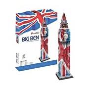 Cubic Fun 3D Puzzle Big Ben Elizabeth Tower London England Country Colours