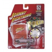 Johnny Lightning Poker Series II 1957 Chevrolet Bel Air Pink Convertible