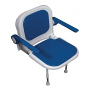 NRS Healthcare Advanced Wall Mounted Shower Seat with Padded Seat and Backrest
