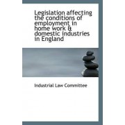 Legislation Affecting the Conditions of Employment in Home Work & Domestic Industries in England by Industrial Law Committee