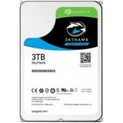 HDD Desktop Seagate SkyHawk, 3TB, SATA III 600, 64 MB Buffer + Cablu conexiune S-ATA III 4World 08530, 452 mm, conector 90 grade