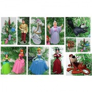 Cinderella Christmas Tree Ornament Set - Plastic Shatterproof Ornaments 2 to 4.5