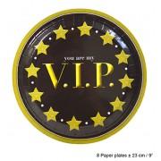 Farfurii carton 23cm ( model -VIP) - Cod 84598