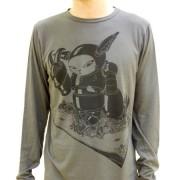 Wade1 Vancouver Citycrusher Cut & Sew Long Sleeved T Shirt Grey LSG-004