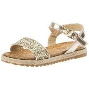 Sandale fetite glitter auriu