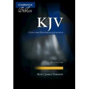 KJV Concord Reference Bible, Black Calfsplit Leather, Red Letter Text, Thumb Index KJ564:XRI