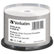 Verbatim - DVD+R Double Layer Wide Thermal Printable 8x