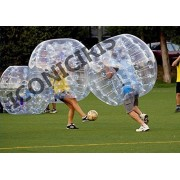 Free Shipping Inflatable Bumper Bubble Balls Body Zorb Ball Soccer Bumper Football 1.5m RED