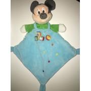 Doudou Souris Mickey Mouse Bleu Vert Cubes Etoiles Ballon Soft Otys Plush Security Blanket