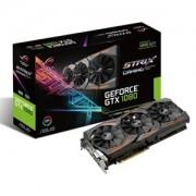 Placa video ASUS ROG Strix Gaming GeForce GTX 1080, 1607 (1733) MHz, 8GB GDDR5X, 256-bit, DVI-D, 2x HDMI, 2x DP, STRIX-GTX1080-8G-GAMING