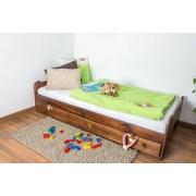 Steiner Shopping Möbel Kinderbett / Jugendbett Kiefer Vollholz massiv nussfarben A11, inkl. Lattenrost