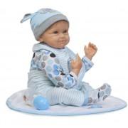 55 Cm Bébé Reborn Doll Toys Play House Toys Pour Enfant, Silicone Reborn Bébés Éducation Précoce Poupées Brinquedos Fille Chaude