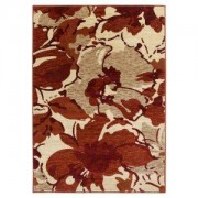 Colours Antonia Beige & Red Floral Rug (L)1.7m (W)1.2m