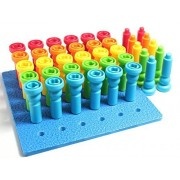 Peg Board Toy Fine Motor Toy For Toddlers And Preschoolers Occupational Therapy