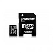 Card Transcend microSDHC 8GB Class 4 cu adaptor SD