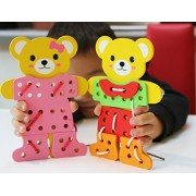 Toys of Wood Oxford Bear Family Threading de Vestir
