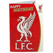 Liverpool FC. Liverbird Musical Birthday Card