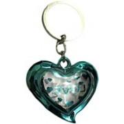 DCS Green Heart Design Keychain Locking Carabiner(Green)