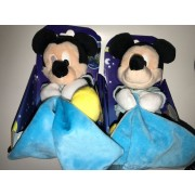 Doudou Souris Mickey Bleu Phosphorescent Mouchoir Disney Baby Luminescent Lot De Deux Doudous Peluches Mickey Mouse Glow In The Dark