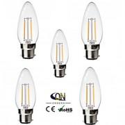 5 pçs ONDENN B22 2 COB 200 LM Branco Quente C35 edison Vintage Lâmpadas de Filamento de LED AC 220-240 / AC 110-130 V