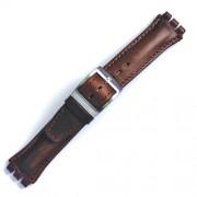 Curea ceas tip Swatch din piele naturala nr. 201 [19-SW18]