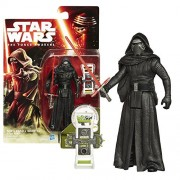 Hasbro Year 2015 Star Wars The Force Awakens Series 4 Inch Tall Action Figure Kylo Ren With Red Lightsaber Plus Build A Weapon Part #2