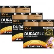 Duracell Plus Power 9v PP3 Pack de 12 (MN1604-X12)