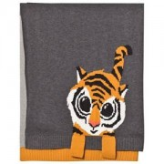 The Bonnie Mob Tiger Jacquard Baby Blanket Grey