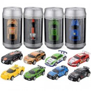 Exciting Mini Coke Can Speed Rc Radio Remote Controlled Micro Racing Car Toys Kids Game