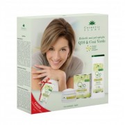 Set cadou Q10+ceai verde cu cremă antirid zi, lapte demach. și cremă mâini