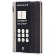 Moleskine Pro Collection Professional Notebook, Large, Black, Hard Cover (5 X 8.25)