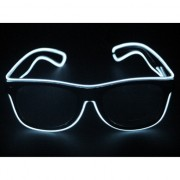 Disco bril met witte LED verlichting