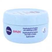 Nivea Baby Soft Cream 200ml Kinderkosmetik für Frauen Feuchtigkeitsspendende Creme für Gesicht und Körper