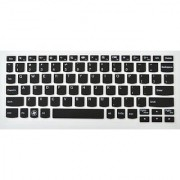 Semi-Transparent Black Silicone Keyboard Protector Case Cover Skin for Lenovo IdeaPad YOGA 11 Ultrabook S206 US Layout L