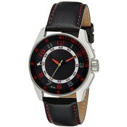 Fastrack Quartz Black Round Men Watch 3089SL12