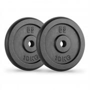 CAPITAL SPORTS IPB 10 Dischi per Bilanciere Coppia 30 mm 10 kg Nero