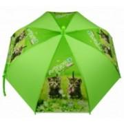 Deštník dětský holový vystřelovací kočka zelený 9149-8 9149-8