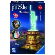 RAVENSBURGER - PUZZLE 3D LUMINOS STATUIA LIBERTATII, 108 PIESE (RVS3D12596)