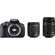 Canon EOS 700D Appareil photo numérique Réflex Kit Boîtier + Objectifs 18-55 Mm IS/55-250 Mm IS 18,5 Mpix Noir