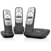 Siemens A415A Trio Teléfono inalámbrico (DECT, 50 m, 300 m, 100 entradas) negro